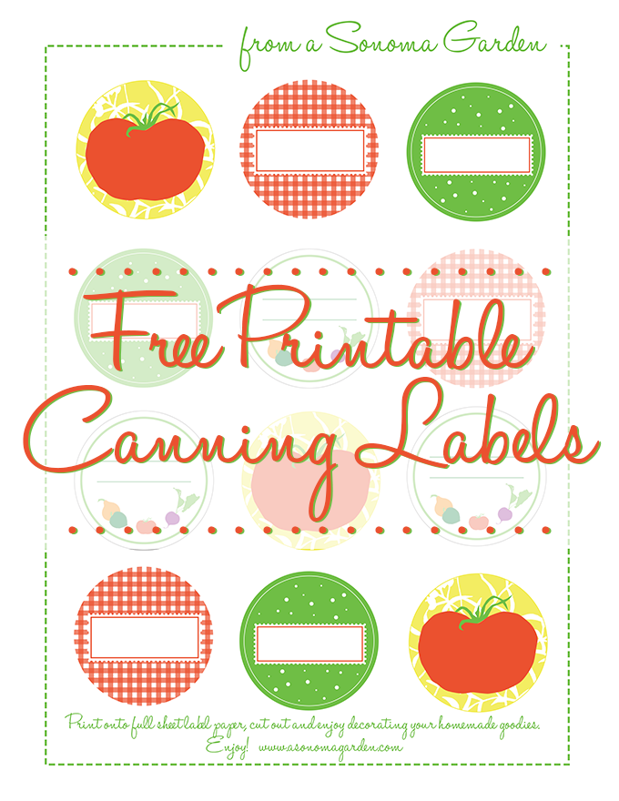 Adorable free printable canning labels.