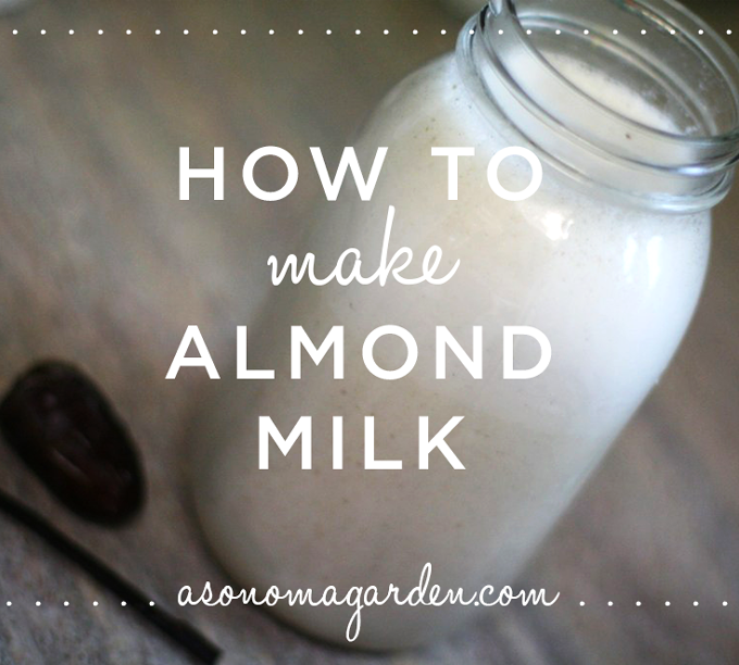 A step by step tutorial on how to make almond milk. It's delicious!