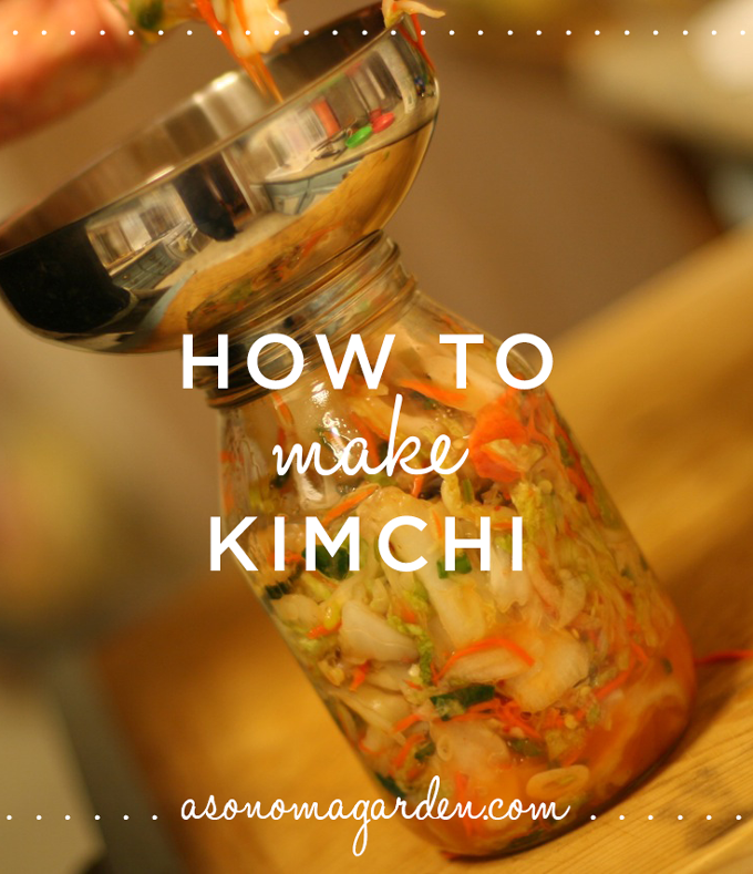 A great recipe for making kimchi. An easy fermentation project that is so good for your health..