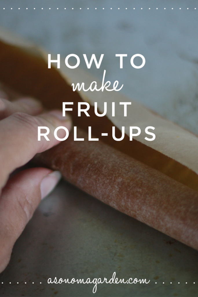 How to make homemade fruit roll ups