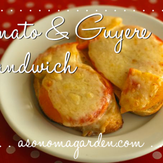Summer Sandwich - Tomato & Guyere Open Faced Sandwich Recipe. So very delicious!