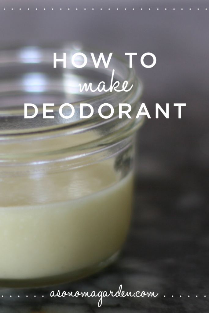 How to make an easy homemade deodorant (i love it!)