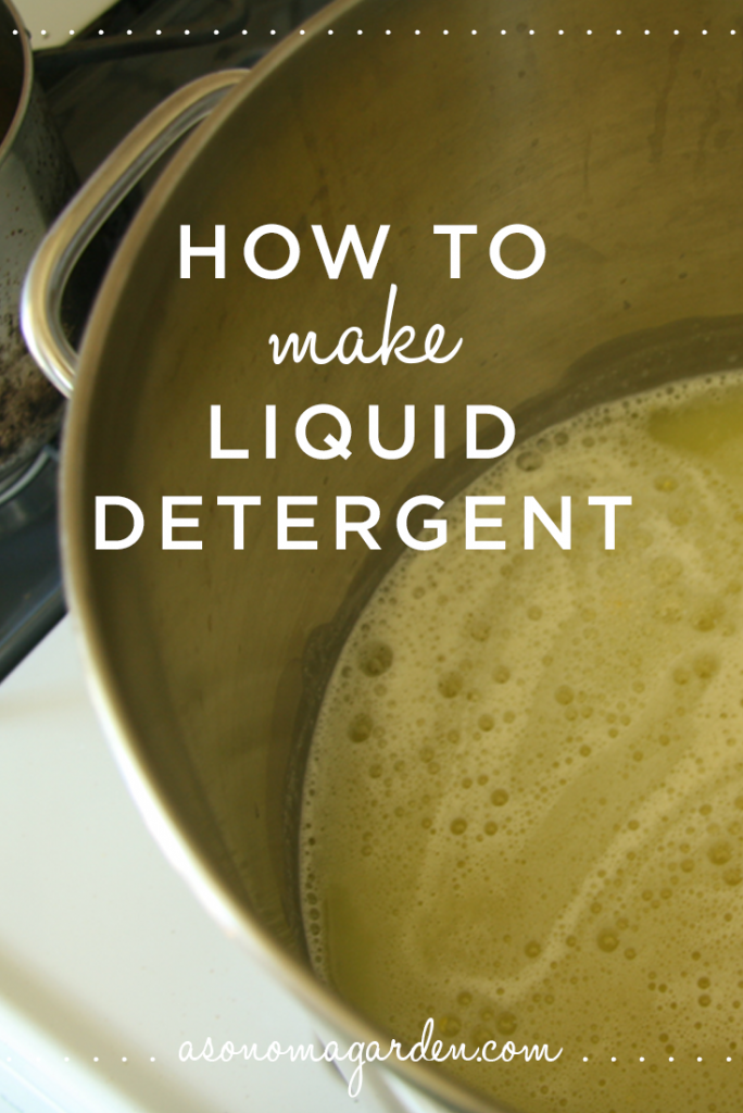 How to make liquid laundry detergent